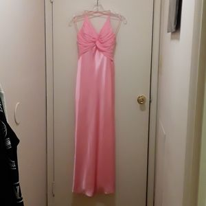 Gorgeous pink gown with low back